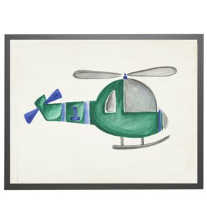 Watercolor helicopter
