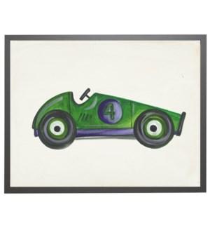 Watercolor race car