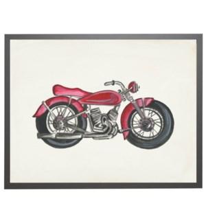 Watercolor motorcycle car