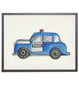 Watercolor police car