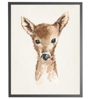 Watercolor baby deer