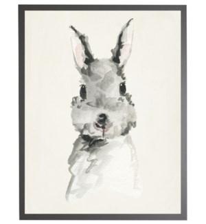 Watercolor baby rabbit