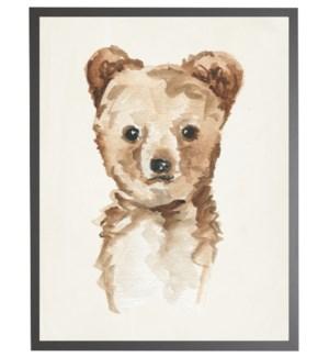 Watercolor baby bear