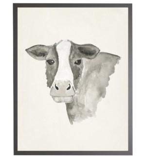 Watercolor black cow