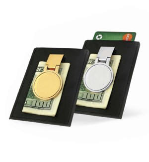 IP Gold Leather Pouch Money Clip