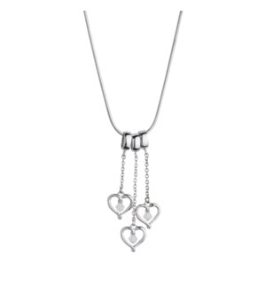 Three Mini Hearts Birth Gem Pendant