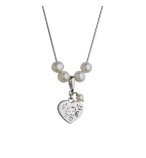 Girl Heart Pendant