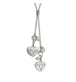 Mom and Boy Heart Pendant