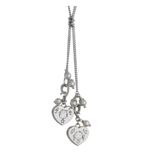 Boy and Girl Heart Pendant