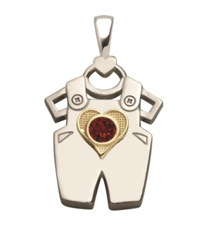 Birth Gem Boy 14kt Gold Sweetheart Charm