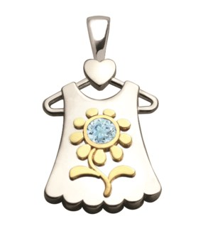 Birth Gem Girl 14kt Gold Blossom Charm