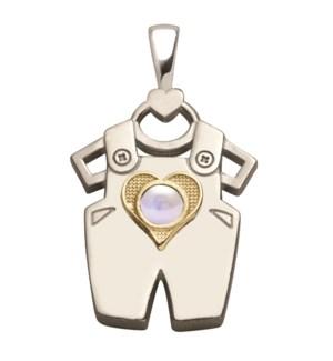 Birth Gem Boy 14kt Gold Sweetheart Charm