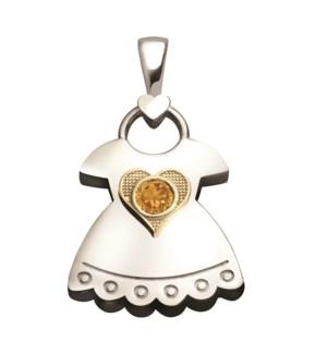 Birth Gem Girl 14kt Gold Sweetheart Charm