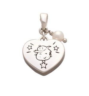 Boy Heart Charm
