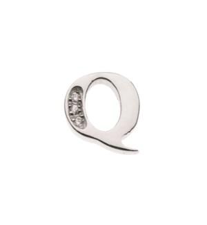 Mini White Topaz Letter Charm