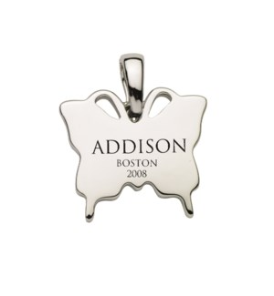 Engravable Butterfly Charm