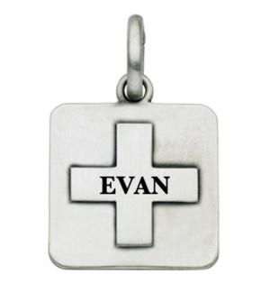 Engravable Square Cross Charm