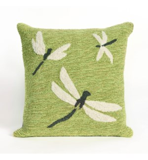 Liora Manne Frontporch Dragonfly Indoor/Outdoor Pillow Green