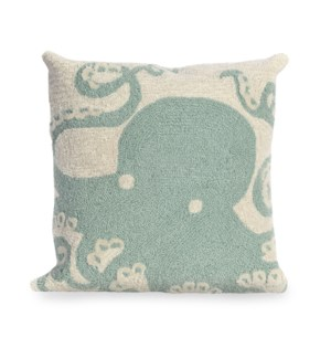 Liora Manne Frontporch Octopus Indoor/Outdoor Pillow Aqua