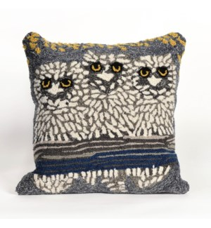 Liora Manne Frontporch Owls Indoor/Outdoor Pillow Night