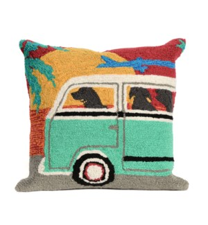 Liora Manne Frontporch Beach Trip Indoor/Outdoor Pillow Sunset