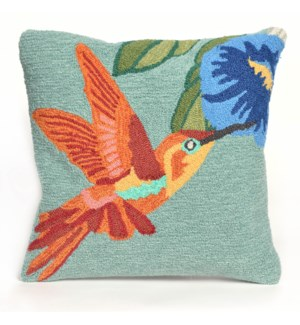 Liora Manne Frontporch Hummingbird Indoor/Outdoor Pillow Sky