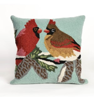 Liora Manne Frontporch Cardinals Indoor/Outdoor Pillow Sky