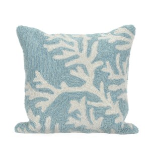 Liora Manne Frontporch Coral Indoor/Outdoor Pillow Aqua