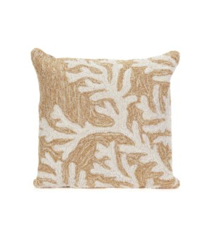 Liora Manne Frontporch Coral Indoor/Outdoor Pillow Neutral