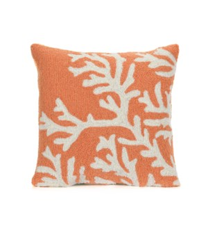 Liora Manne Frontporch Coral Indoor/Outdoor Pillow Coral