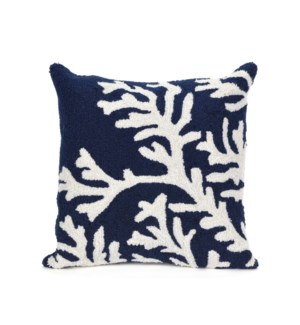 Liora Manne Frontporch Coral Indoor/Outdoor Pillow Navy