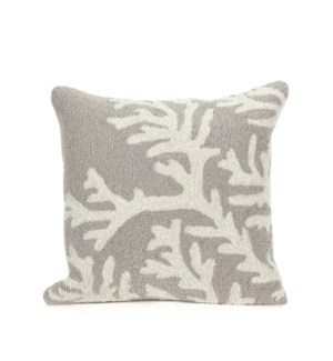 Liora Manne Frontporch Coral Indoor/Outdoor Pillow Silver