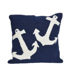 Liora Manne Frontporch Anchor Indoor/Outdoor Pillow Navy