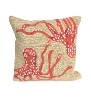 Liora Manne Frontporch Octopus Indoor/Outdoor Pillow Coral