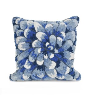 Liora Manne Frontporch Mum Indoor/Outdoor Pillow Blue