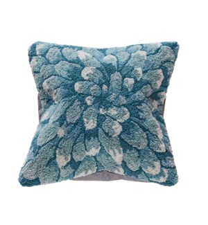 Liora Manne Frontporch Mum Indoor/Outdoor Pillow Aqua