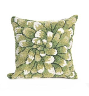Liora Manne Frontporch Mum Indoor/Outdoor Pillow Green