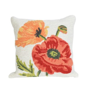 Liora Manne Frontporch Icelandic Poppies Indoor/Outdoor Pillow Neutral