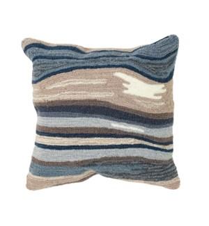 Liora Manne Frontporch Ipanema Indoor/Outdoor Pillow Blue/Grey