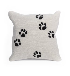 Liora Manne Frontporch Paw Prints Indoor/Outdoor Pillow Neutral