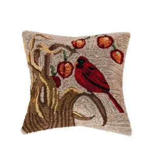 Liora Manne Frontporch Bird Indoor/Outdoor Pillow Neutral