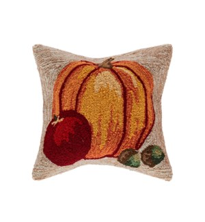 Liora Manne Frontporch Harvest Pumpkin Indoor/Outdoor Pillow Neutral