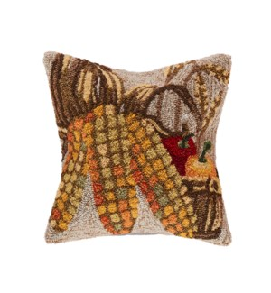 Liora Manne Frontporch Corn Indoor/Outdoor Pillow Neutral