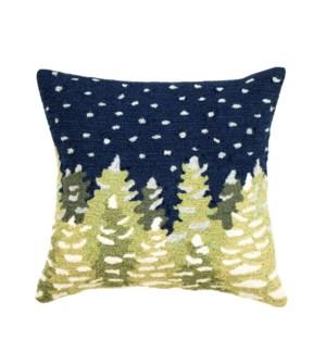 Liora Manne Frontporch Let It Snow Indoor/Outdoor Pillow Midnight