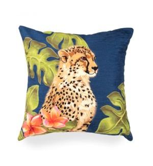 "Liora Manne Illusions Cheetahs Indoor/Outdoor Pillow Jungle 18"" Square"
