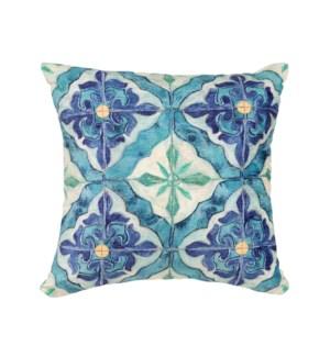 """Liora Manne Illusions Madrid Indoor/Outdoor Pillow Ocean 18"""" Square"""