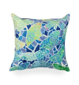 """Liora Manne Illusions Butterfly Indoor/Outdoor Pillow Blue 18"""" Square"""