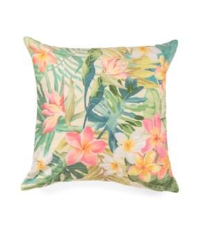 """Liora Manne Illusions Paradise Indoor/Outdoor Pillow Pastel 18"""" Square"""