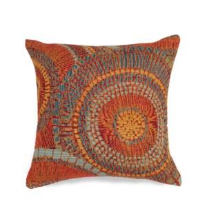 Liora Manne Marina Circles Indoor/Outdoor Pillow Saffron