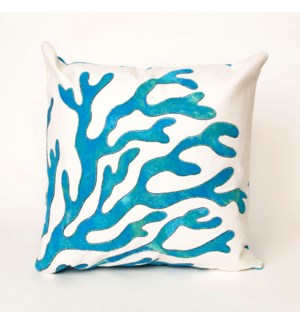 Liora Manne Visions I Coral Indoor/Outdoor Pillow Blue